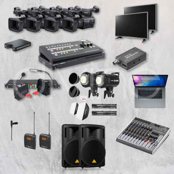 Paket live streaming audio dan lighting